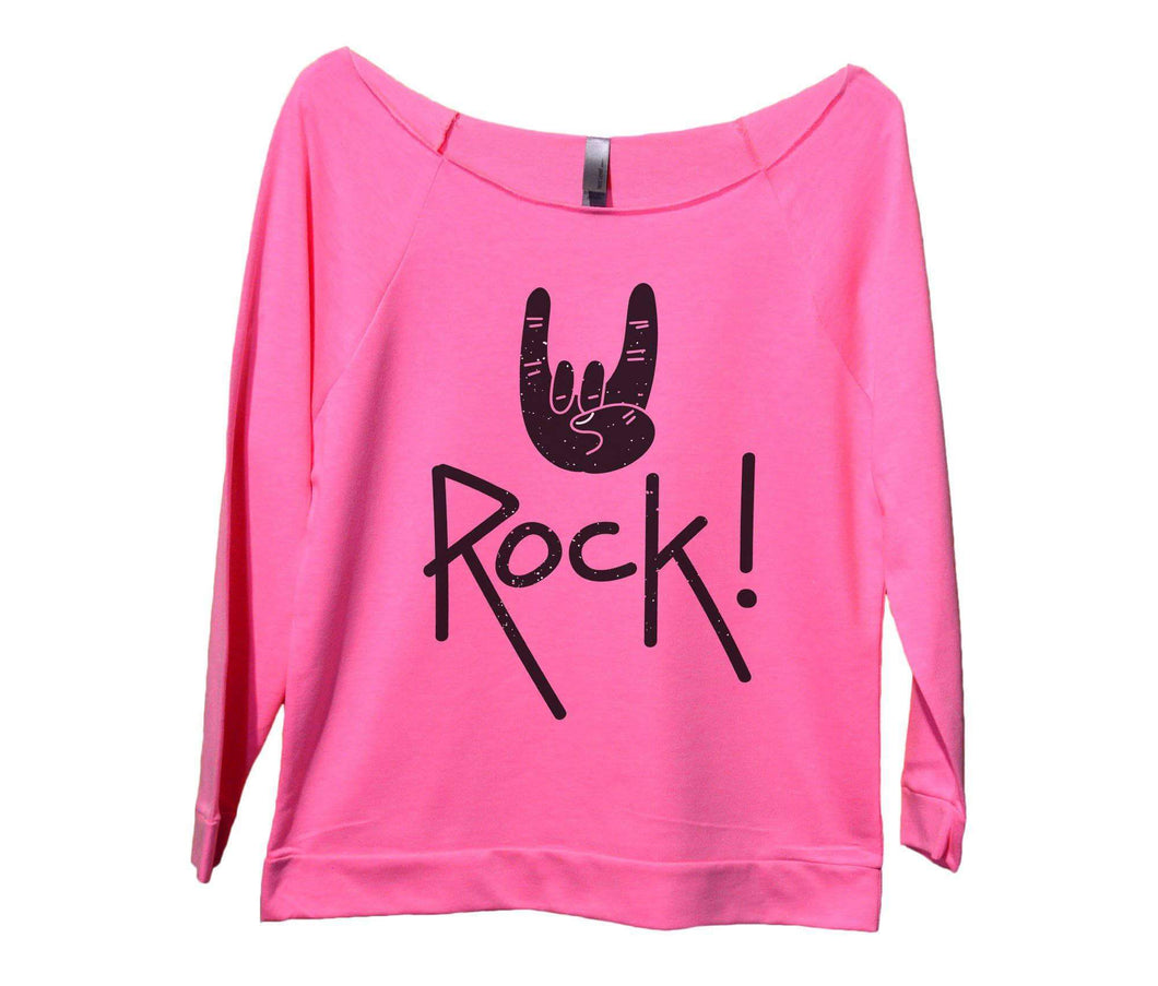 Rock On Womens 3/4 Long Sleeve Vintage Raw Edge Shirt Small Womens Tank Tops Pink