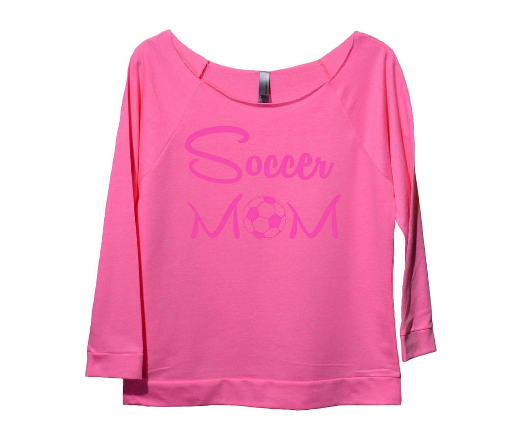 Soccer Mom Womens 3/4 Long Sleeve Vintage Raw Edge Shirt Small Womens Tank Tops Pink