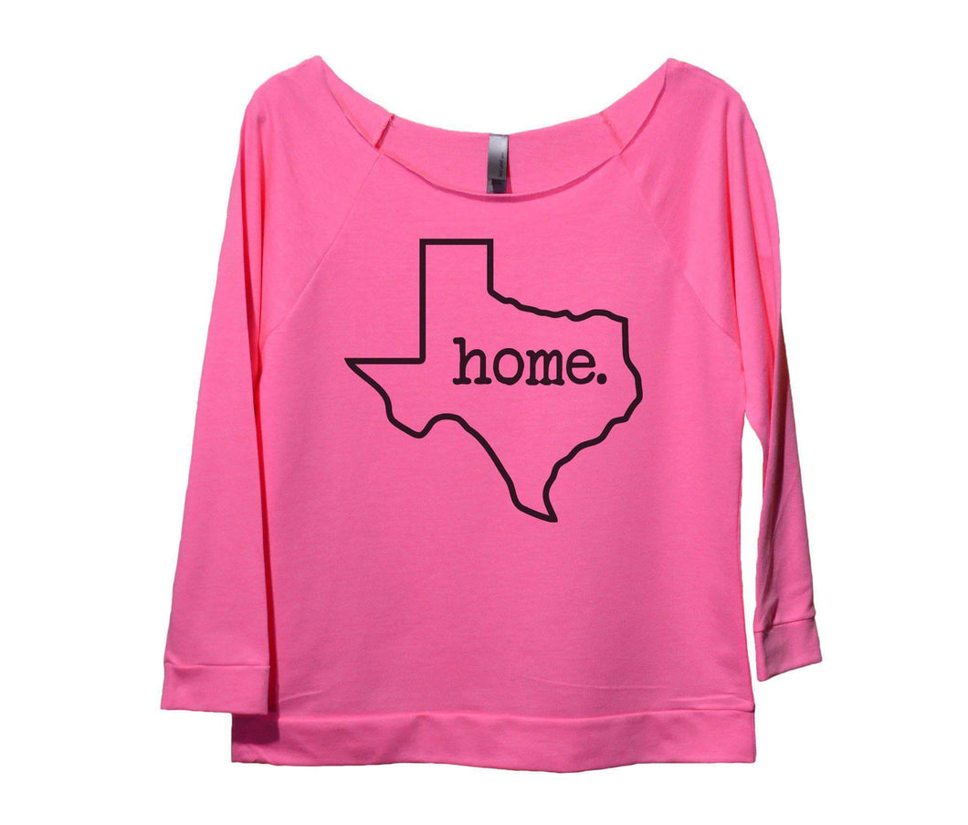 Texas Home Womens 3/4 Long Sleeve Vintage Raw Edge Shirt Small Womens Tank Tops Pink