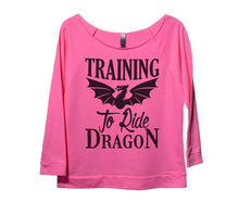 Training To Ride Dragon Womens 3/4 Long Sleeve Vintage Raw Edge Shirt Small Womens Tank Tops Pink