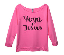 Yoga And Jesus Womens 3/4 Long Sleeve Vintage Raw Edge Shirt Small Womens Tank Tops Pink