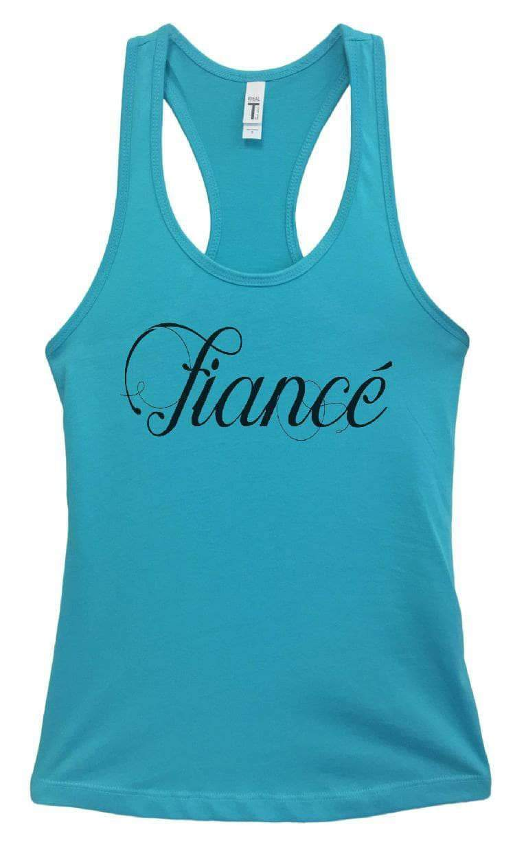 Womens Fiance Grapahic Design Fitted Tank Top Small Womens Tank Tops Sky Blue