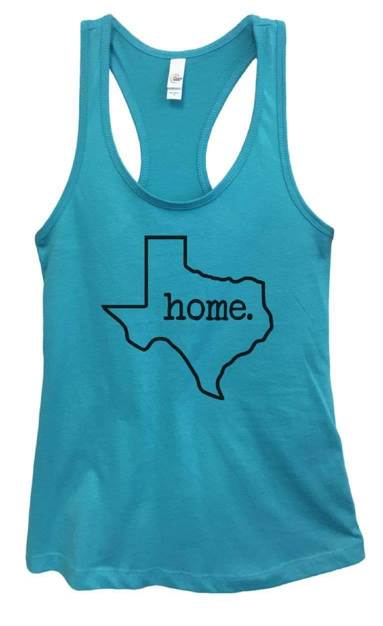Womens Texas Home Grapahic Design Fitted Tank Top Small Womens Tank Tops Sky Blue