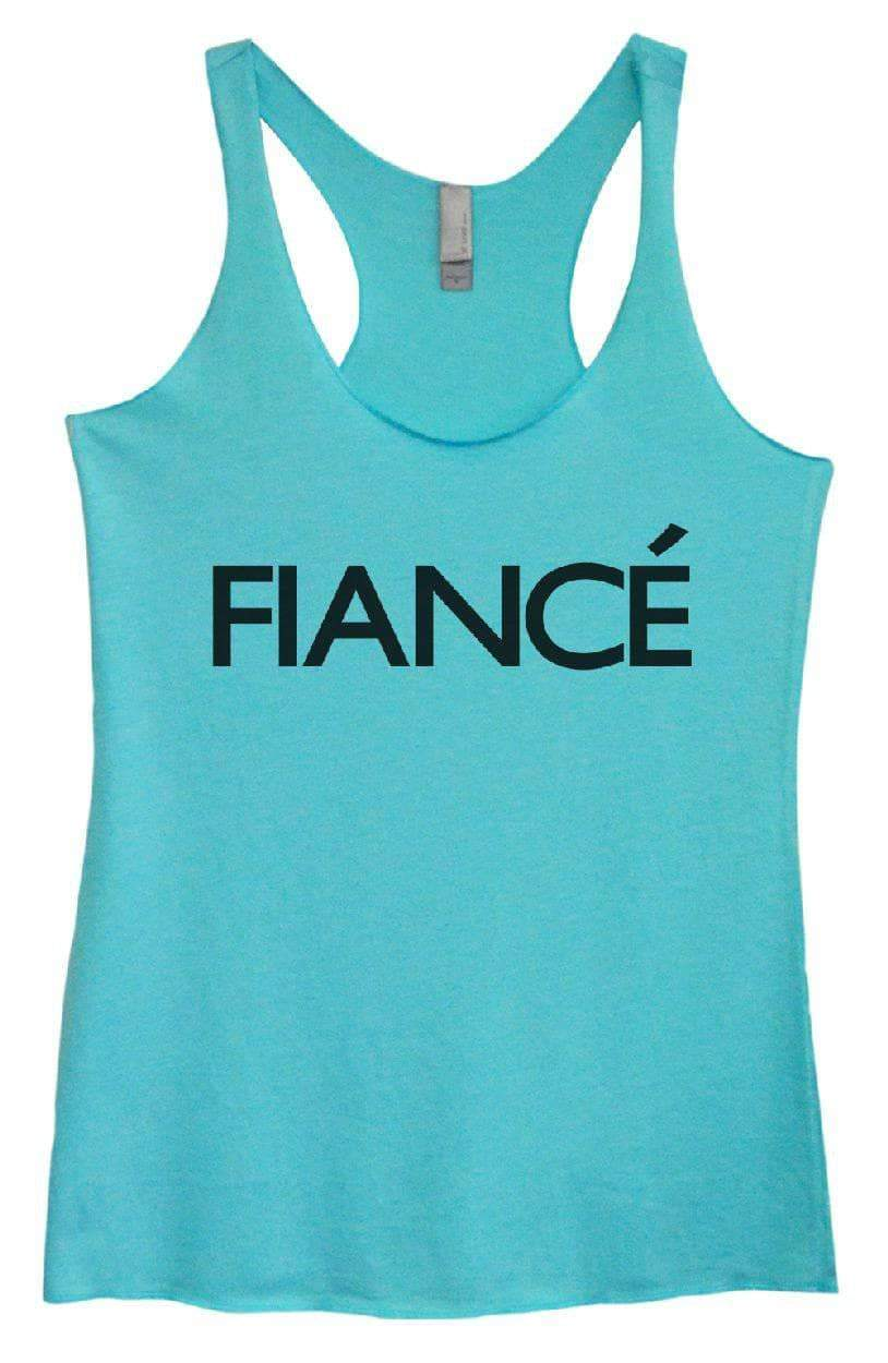 Womens Tri-Blend Tank Top - FIANCE Small Womens Tank Tops Vintage Blue