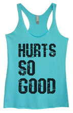 Womens Tri-Blend Tank Top - HURTS SO GOOD Small Womens Tank Tops Vintage Blue