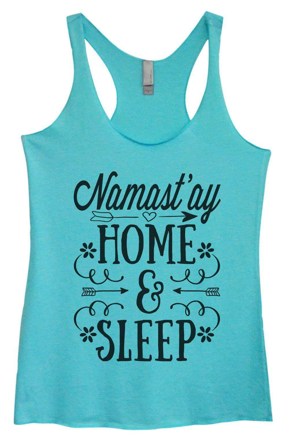 Womens Tri-Blend Tank Top - Namast'Ay Home And Sleep Small Womens Tank Tops Vintage Blue