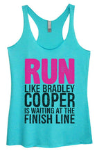 Womens Tri-Blend Tank Top - RUN LIKE BRADLEY COOPER IS WAITING AT THE FINISH LINE Small Womens Tank Tops Vintage Blue
