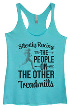 Womens Tri-Blend Tank Top - Silently Racing The People On The Other Treadmills Small Womens Tank Tops Vintage Blue