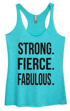 Womens Tri-Blend Tank Top - STRONG. FIERCE. FABULOUS Small Womens Tank Tops Vintage Blue