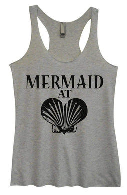 Womens Tri-Blend Tank Top - Mermaid At Heart Small Womens Tank Tops Vintage Grey