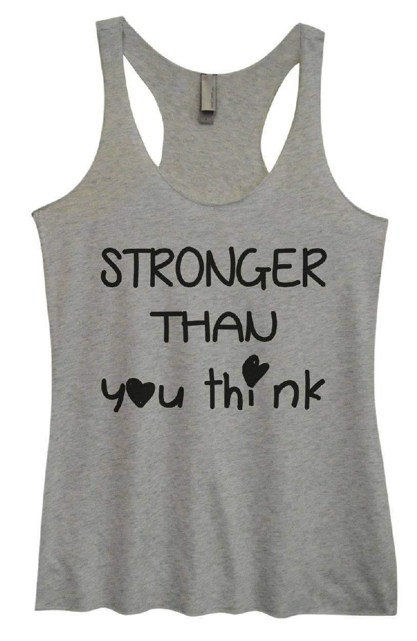 Womens Tri-Blend Tank Top - STRONGER THAN You Think Small Womens Tank Tops Vintage Grey