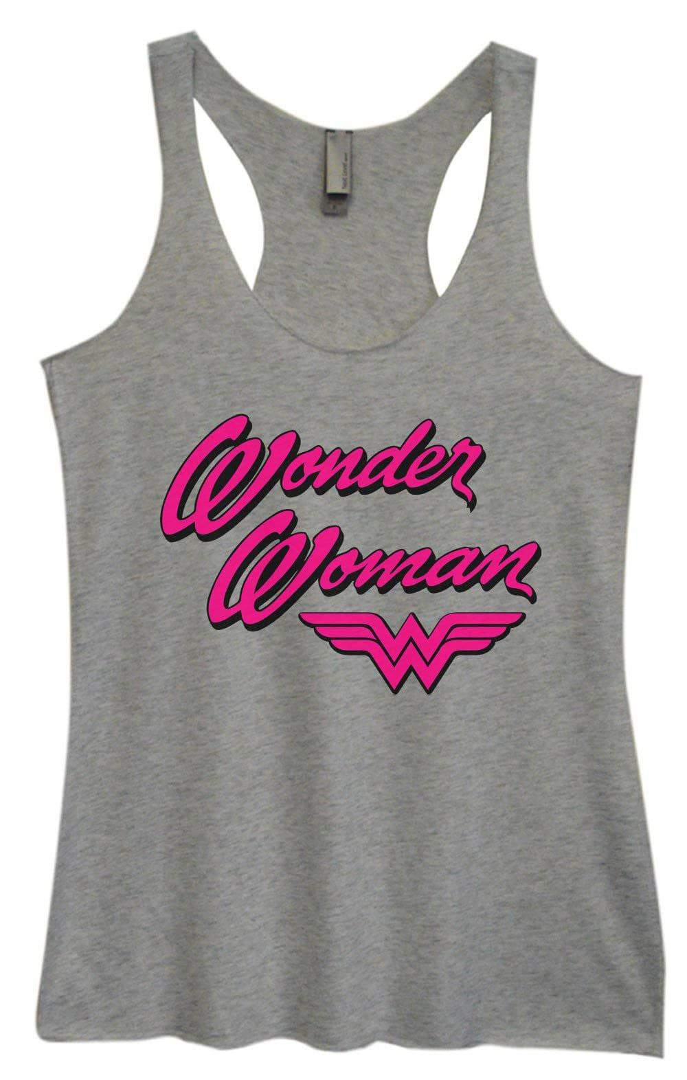 Womens Tri-Blend Tank Top - Wonder Woman Small Womens Tank Tops Vintage Grey