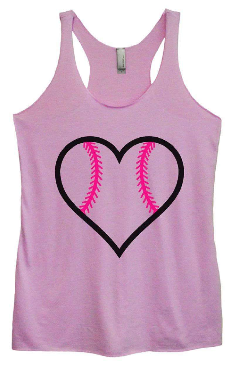 Womens Tri-Blend Tank Top - BASEBALL LOVE Small Womens Tank Tops Vintage Lilac