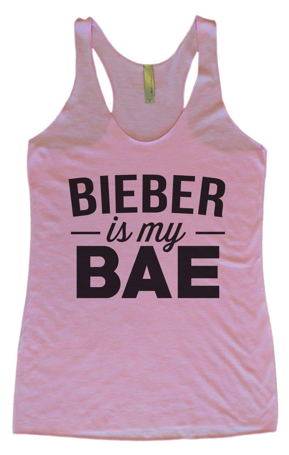Womens Tri-Blend Tank Top - Bieber Is My Bae Small Womens Tank Tops Vintage Lilac