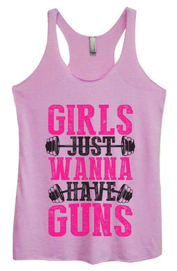 Womens Tri-Blend Tank Top - Girls Just Wanna Have Guns Small Womens Tank Tops Vintage Lilac