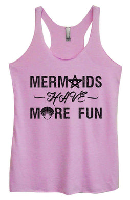 Womens Tri-Blend Tank Top - Mermaids Have More Fun Small Womens Tank Tops Vintage Lilac