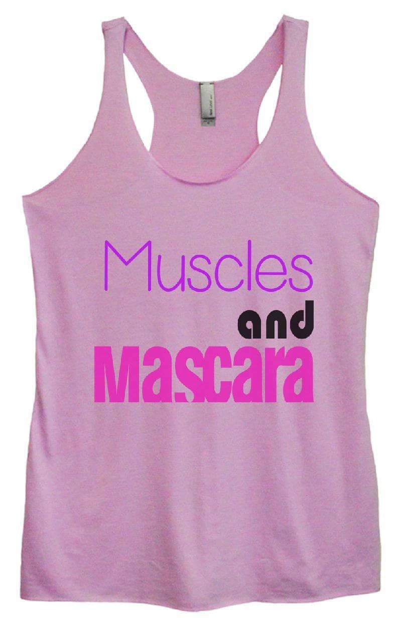 Womens Tri-Blend Tank Top - Muscles And Mascara Small Womens Tank Tops Vintage Lilac