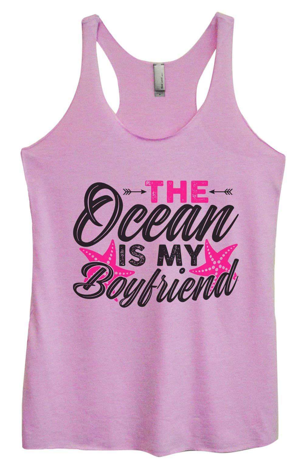 Womens Tri-Blend Tank Top - The Ocean Is My Boyfriend Small Womens Tank Tops Vintage Lilac