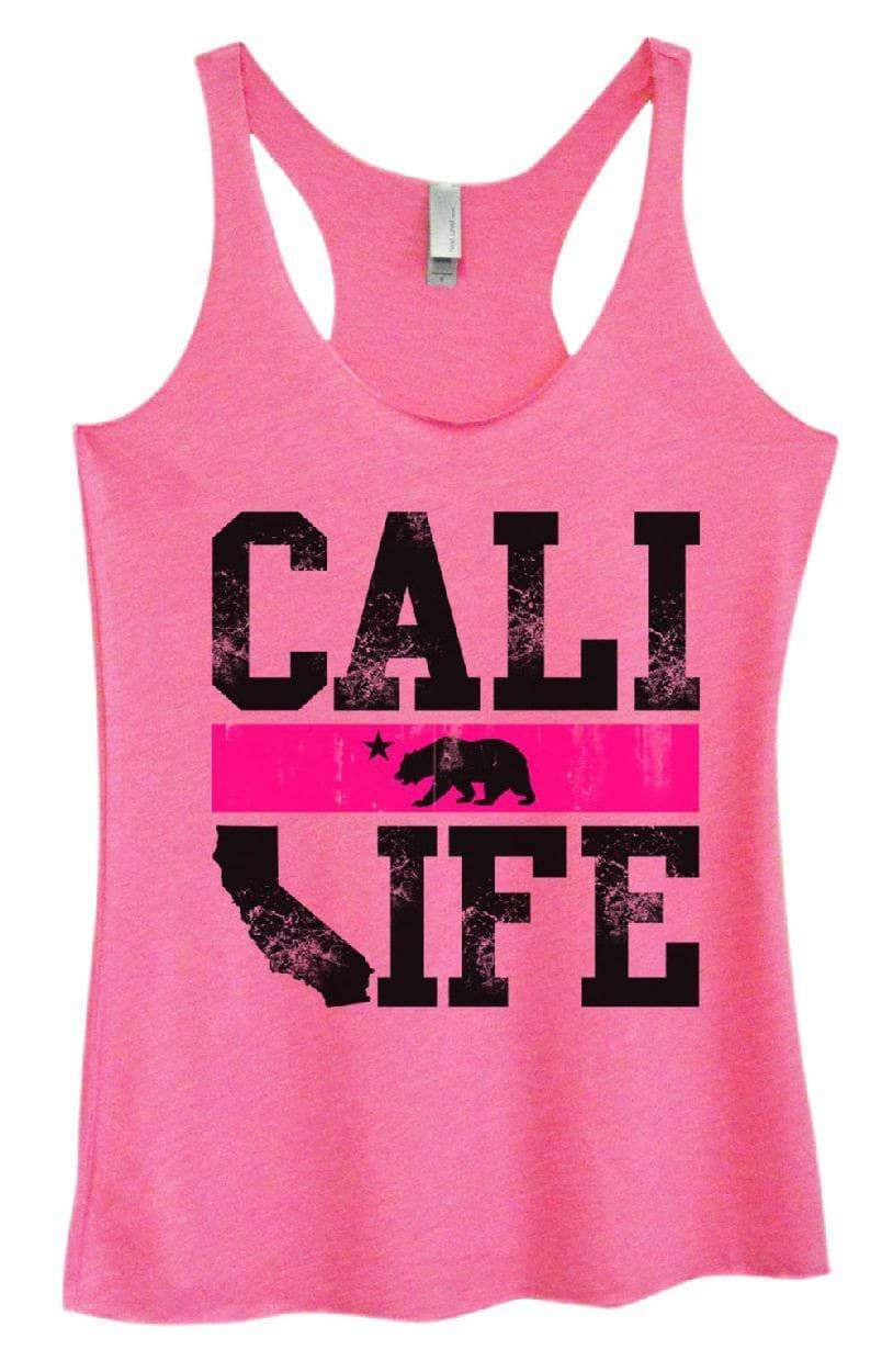 Womens Tri-Blend Tank Top - CALI LIFE Small Womens Tank Tops Vintage Pink