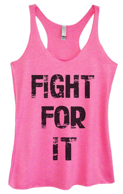 Womens Tri-Blend Tank Top - Fight For It Small Womens Tank Tops Vintage Pink
