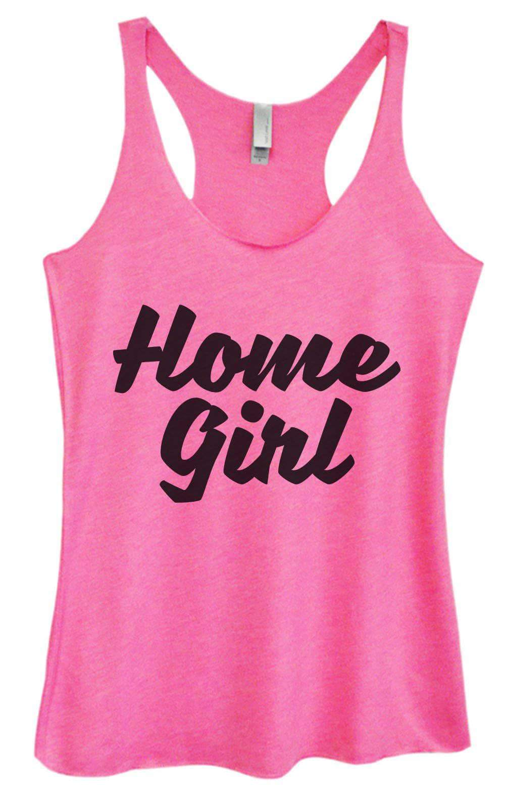 Womens Tri-Blend Tank Top - Home Girl Small Womens Tank Tops Vintage Pink