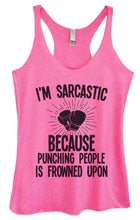 Womens Tri-Blend Tank Top - I'm Sarcastic Because Punching People Is Frowned Upon Small Womens Tank Tops Vintage Pink