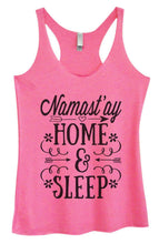 Womens Tri-Blend Tank Top - Namast'Ay Home And Sleep Small Womens Tank Tops Vintage Pink