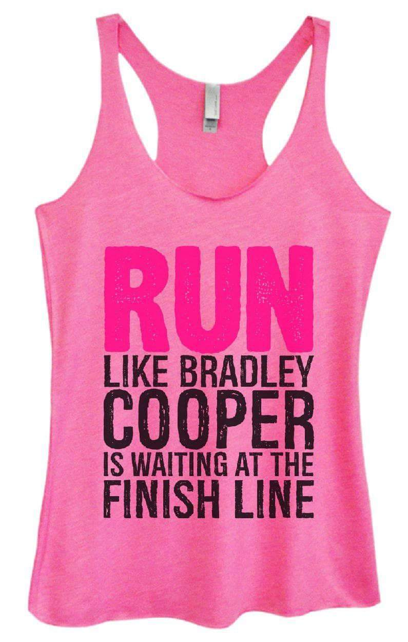 Womens Tri-Blend Tank Top - RUN LIKE BRADLEY COOPER IS WAITING AT THE FINISH LINE Small Womens Tank Tops Vintage Pink