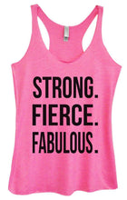 Womens Tri-Blend Tank Top - STRONG. FIERCE. FABULOUS Small Womens Tank Tops Vintage Pink