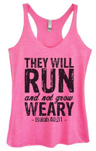 Womens Tri-Blend Tank Top - THEY WILL RUN And Not Grow WEARY Small Womens Tank Tops Vintage Pink