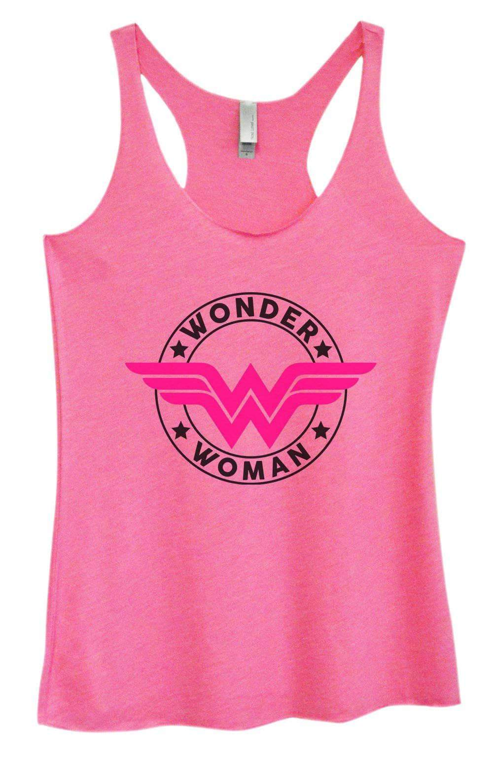 Womens Tri-Blend Tank Top - Wonder Woman Small Womens Tank Tops Vintage Pink