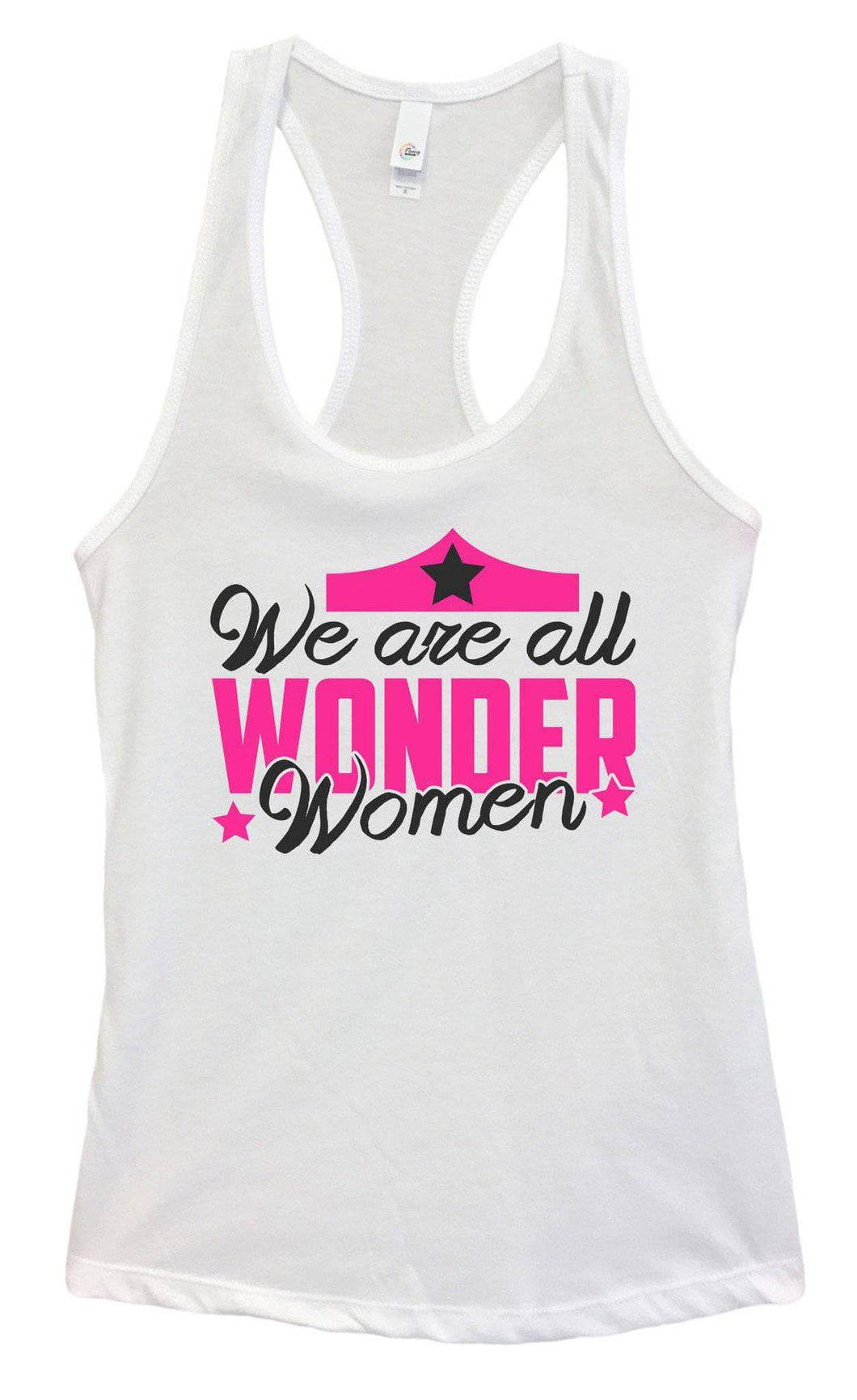Womens We Are All Wonder Women Grapahic Design Fitted Tank Top Small Womens Tank Tops White
