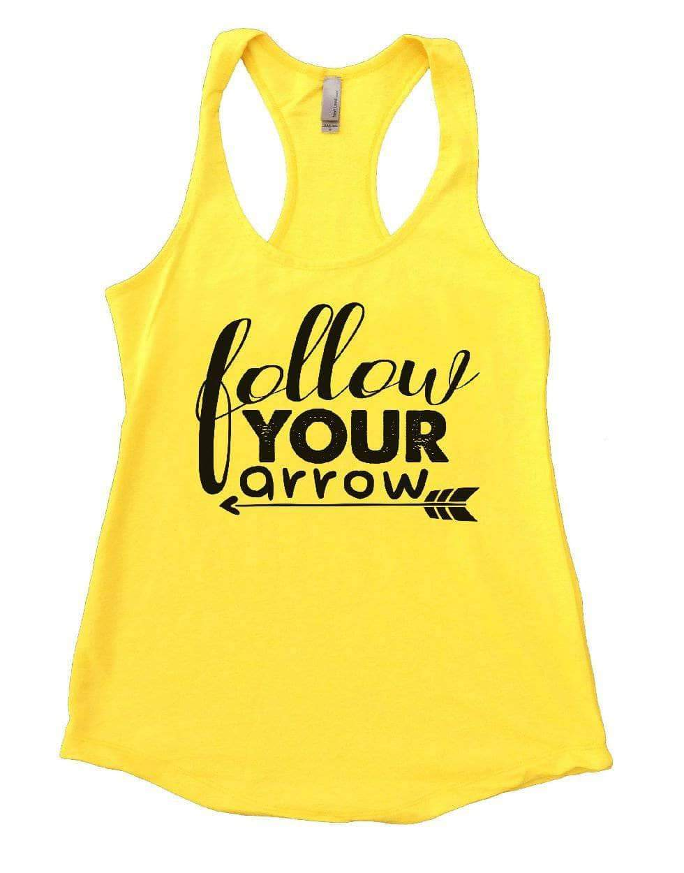 Follow YOUR Arrow Womens Workout Tank Top Small Womens Tank Tops Yellow