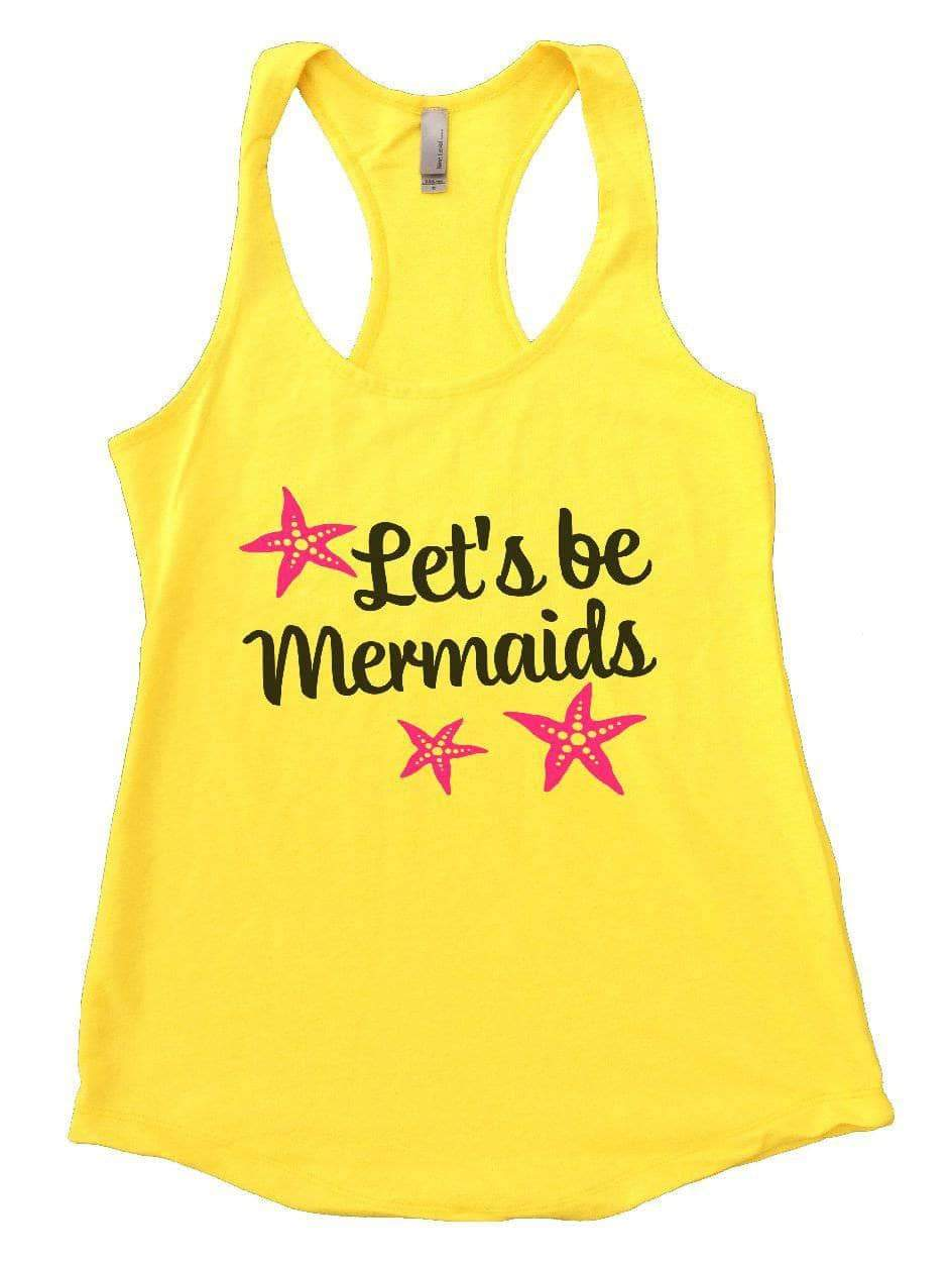 Let's Be Mermaids Womens Workout Tank Top Small Womens Tank Tops Yellow