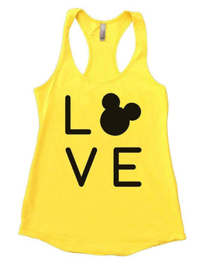 LOVE Womens Workout Tank Top Small Womens Tank Tops Yellow