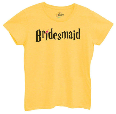 Womens Bridesmaid Tshirt Small Womens Tank Tops Yellow Tshirt