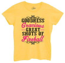 Womens Goodness Gracious Great Shots Of Fireball Tshirt Small Womens Tank Tops Yellow Tshirt