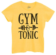 Womens Gym And Tonic Tshirt Small Womens Tank Tops Yellow Tshirt