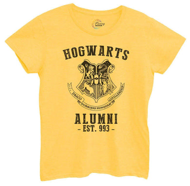 Womens Hogwarts Alumni Tshirt Small Womens Tank Tops Yellow Tshirt