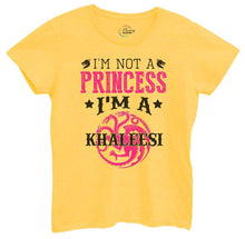 Womens I'm Not A Princess I'm A Khaleesi Tshirt Small Womens Tank Tops Yellow Tshirt