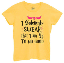 Womens I Solemnly Swear That I Am Up To No Good Tshirt Small Womens Tank Tops Yellow Tshirt