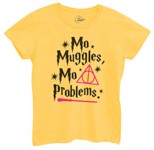 Womens Mo Muggles Mo Problems Tshirt Small Womens Tank Tops Yellow Tshirt