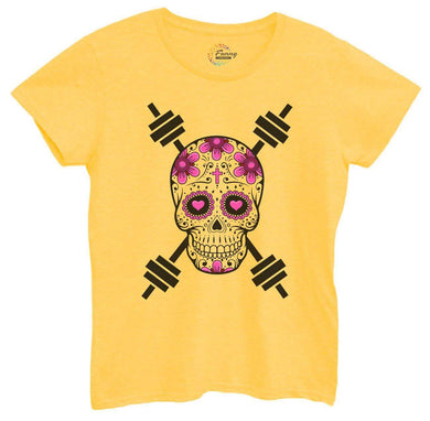 Womens Skull Tshirt Small Womens Tank Tops Yellow Tshirt