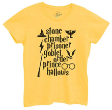Womens Stone Chamber Prisoner Goblet Order Prince Hallows Tshirt Small Womens Tank Tops Yellow Tshirt