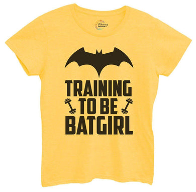 Womens Training To Be Bat Girl Tshirt Small Womens Tank Tops Yellow Tshirt