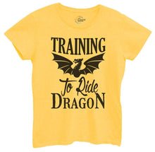 Womens Training To Ride Dragon Tshirt Small Womens Tank Tops Yellow Tshirt