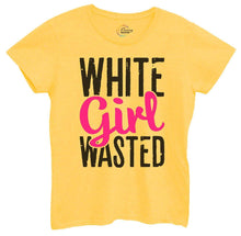 Womens White Girl Wasted Tshirt Small Womens Tank Tops Yellow Tshirt