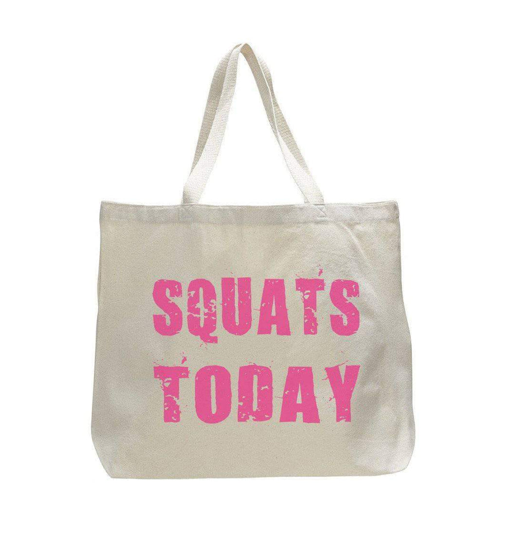 Squat Day - Trendy Natural Canvas Bag - Funny and Unique - Tote Bag  Womens Tank Tops