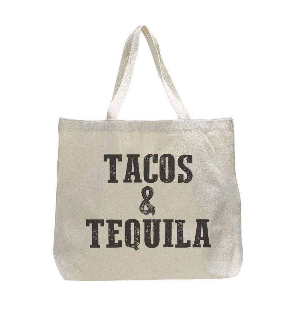 Tacos & Tequila - Trendy Natural Canvas Bag - Funny and Unique - Tote Bag  Womens Tank Tops