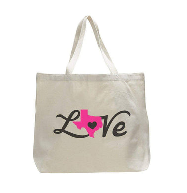 Texas Love - Trendy Natural Canvas Bag - Funny and Unique - Tote Bag  Womens Tank Tops